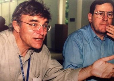 Kai Kjær-Hansen under én af mange passionerede meningsudvekslinger. Her er under en LCJE-konference i New York i 1999.